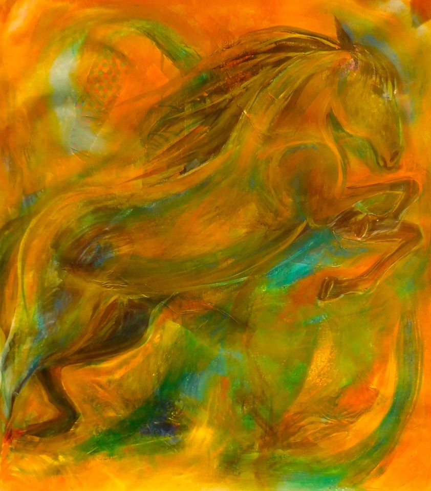 abstract-horse